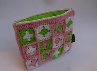 Granny Square Purse Candy/Lime