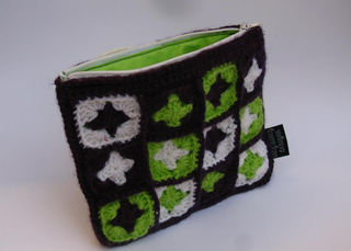 Granny Square Purse Purple/Lime