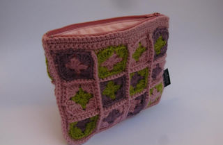 Granny Square Purse Rose/Sage/Mauve