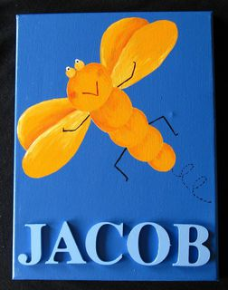 'Jacob' Dragonfly Orange/Blue