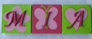 Personalised Canvas 'Mia' Hot Pink/Lime