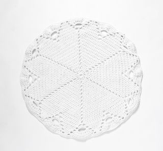 White Crochet Rug/Throw