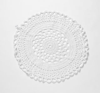 Small White Crochet Rug/Throw