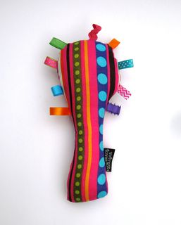 Baby Rattle - Multicoloured Stripes