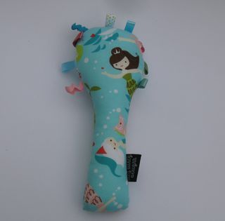 Baby Rattle - Aqua Mermaids