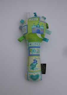 Baby Rattle - Lime/Teal/Purple Princess