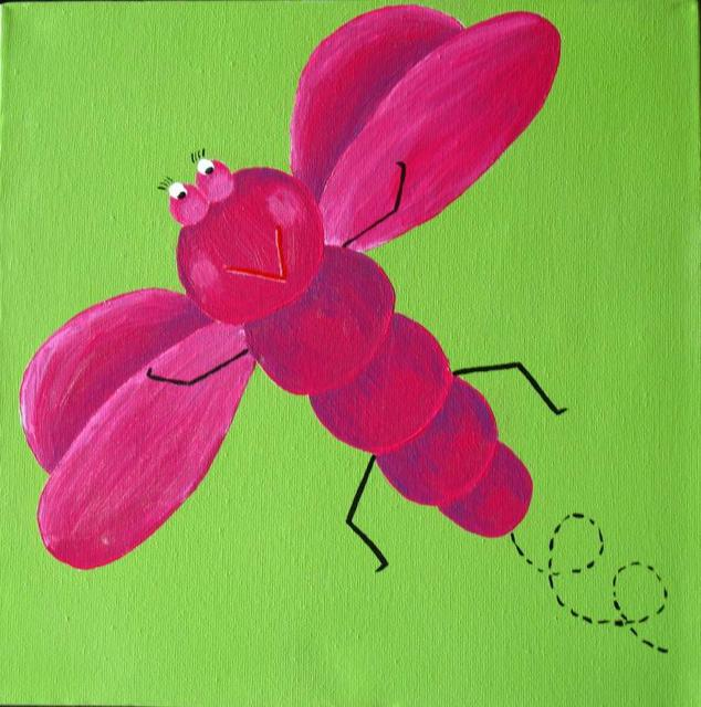 Dragonfly Hot Pink/Lime Green