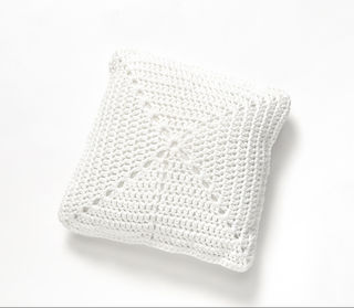 White Crochet Cushion - 40cm