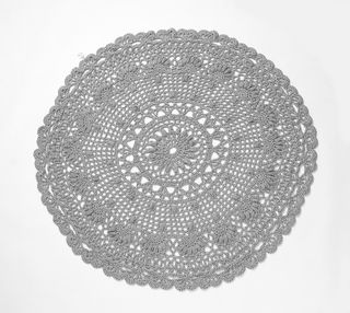 Large Black & White Crochet Rug/Throw