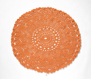 Large Orange Crochet Rug/Throw