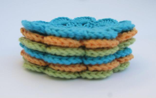 Coasters Lime/Turquoise/Orange