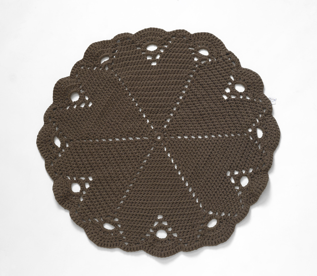 Large Chocolate Brown Crochet Rug/Throw
