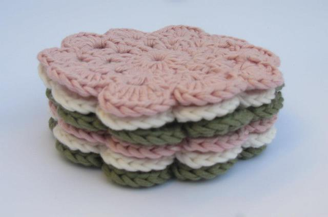 Coasters Rose/Sage/White